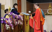 Chancellor Brady Deaton, left, receives his honorary degree from Prince of Songkla University