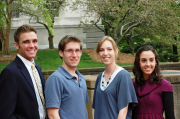 The four MU students named as 2010 Goldwater Scholars. From left to right, Daniel Cook, Bert Drury, April Diebold, Rachel Waller.