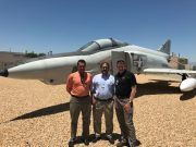 Alan van Nevel, head of research at the NAVAIR facility, Hani Salim and J. Chris Pires on a recent trip to NAVAIR's China Lake facility.