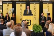 MU Chancellor Alexander Cartwright delivered a State of the University address today noting progress in the past year and actions the university will be taking in the near future.