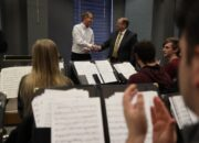 University of Missouri Chancellor Alexander N. Cartwright awarded a 2019 William T. Kemper Fellowship for Teaching Excellence to Brian Silvey, an associate professor of music education in the School of Music.